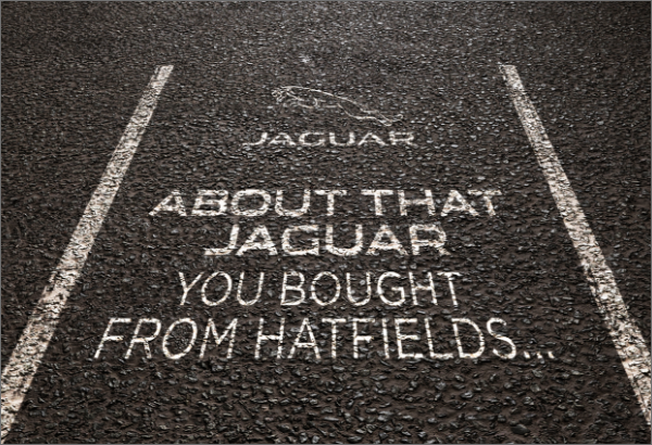 About that Jaguar you bought from Hatfields...